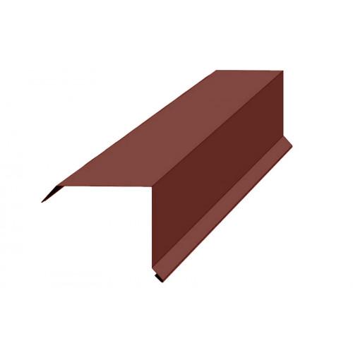Торцевая планка 100*80*2,0м RAL 8017 коричневая