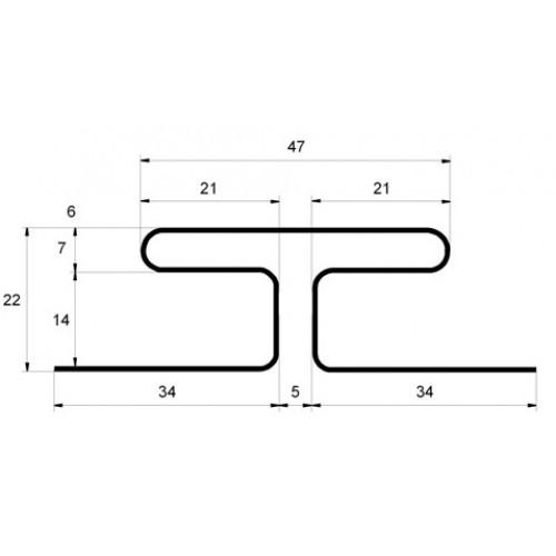 H-профиль GrandLine БЕЛЫЙ 3,0 (24)