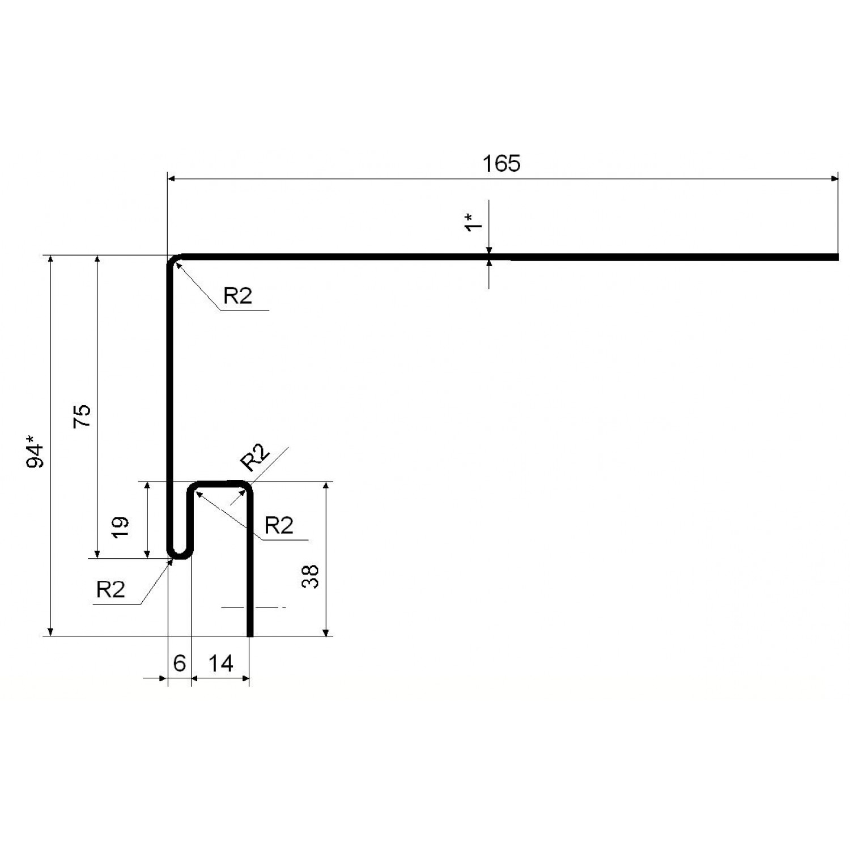 Приоконная планка GrandLine БЕЛЫЙ 3,1 (12)