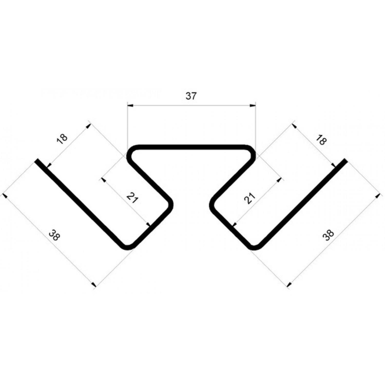 Угол внутренний GrandLine КОРИЧНЕВЫЙ 3,0 (20)