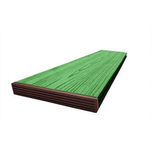 Террасная доска slim с тиснением под дерево 140*18*3000 мм. (бамбук, антрацит, мрамор)