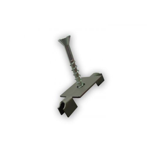 Клипса монтажная с саморезом в комплекте клас. или slim (нерж), (металл)