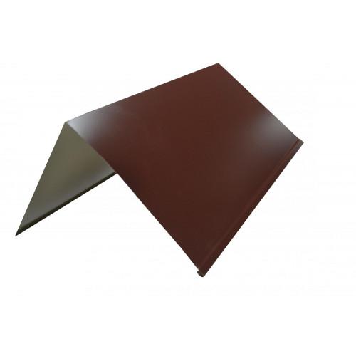 Конек плоский 140*140 2,0м RAL 8017 коричневый