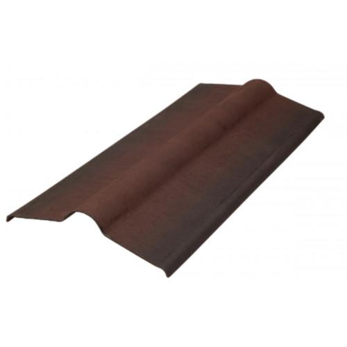 Конек для ондулина коричневый 0,36х0,9