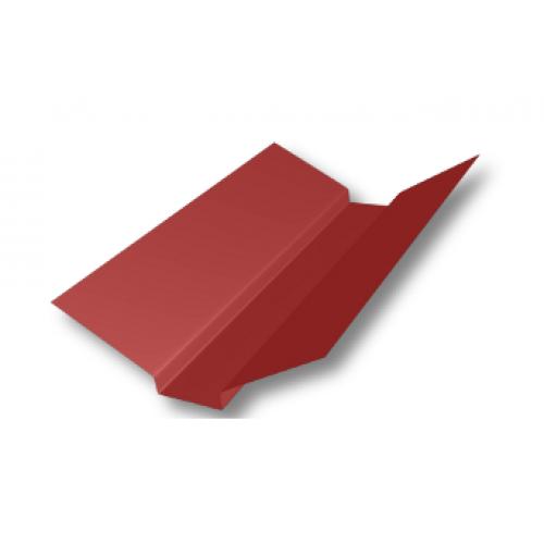 Накладка ендовы 80*80*80*2,0м RAL 3011 красная
