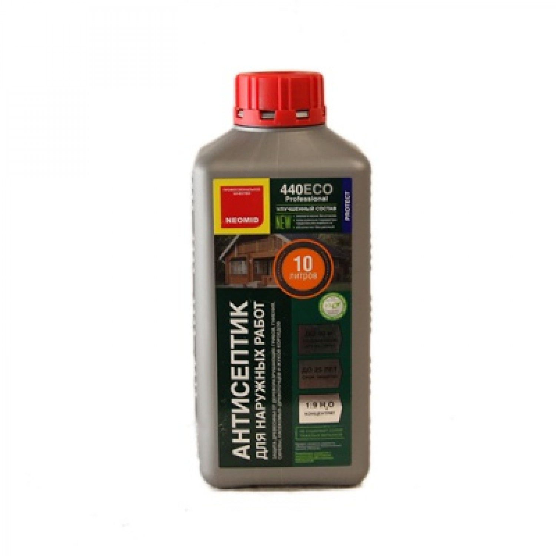 Неомид 440  Есо 1л деревозащитный состав для наружных работ