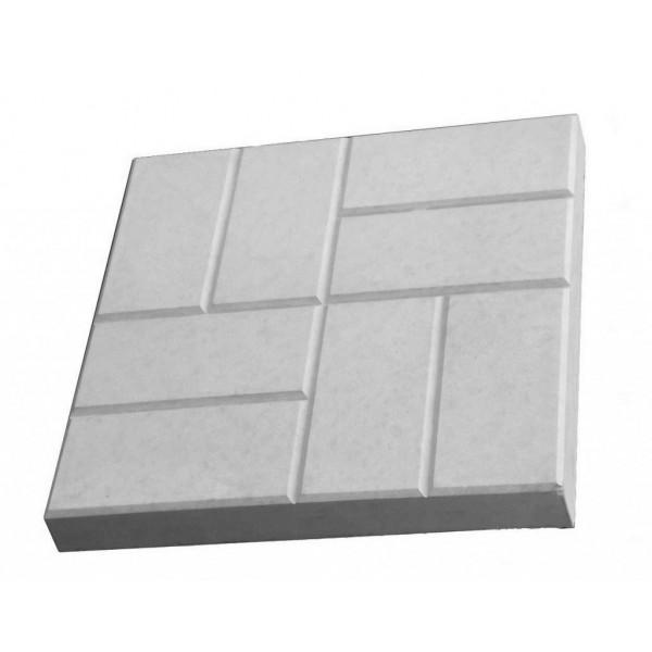 Плитка тротуарная 8 кирпичей 400*400*50 (серая) 1 под. - 60 шт.