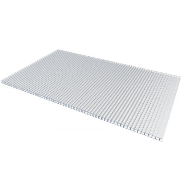 Пластик поликарбонат.10мм  2,1*6 прозрачный