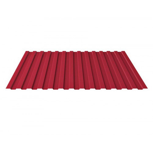 Профнастил С-8 красный RAL3005 1200х2000х0,4мм